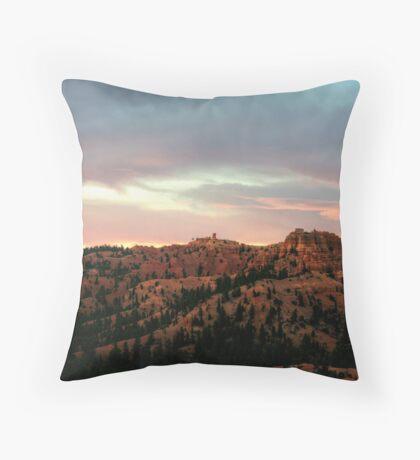 Morning Sun Illuminating Bryce Canyon Throw Pillow