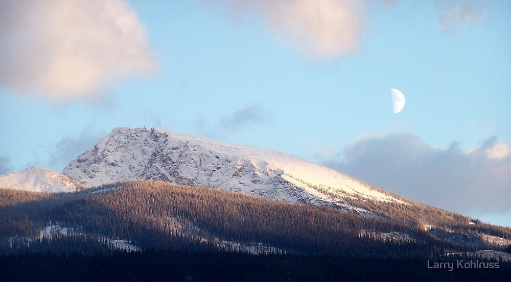 Moon Over Mountain 2 by Larry Kohlruss