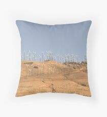 California wind farm Throw Pillow