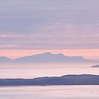 The Island Of Foula In The Sunset by Anne Macdonald