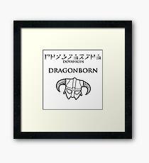 Dovahkiin - Dragonborn Framed Print