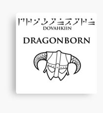 Dovahkiin - Dragonborn Canvas Print