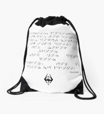 Dragonborn song Drawstring Bag