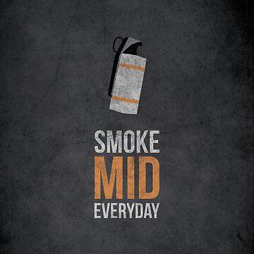 Smoke Mid Everyday - Cs:Go by grimecreative