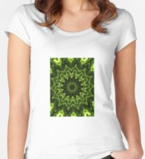 Pretty plant pattern Women's Fitted Scoop T-Shirt