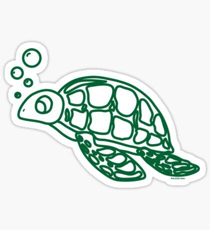 Bubble's The turtle Sticker