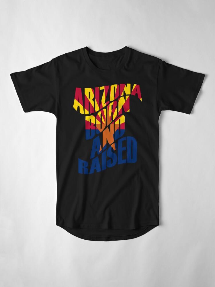 Alternative Ansicht von Arizona geboren und aufgewachsen Longshirt