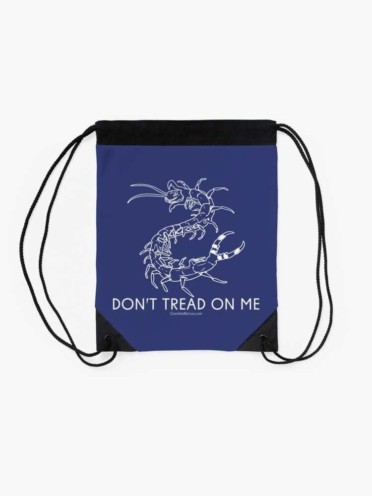Alternate view of Don't Tread On Me - Centipede Nation - The Official Nimble Navigator Drawstring Bag
