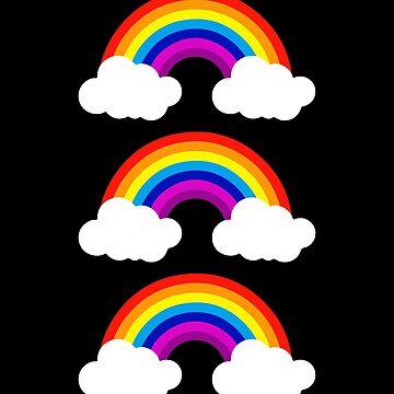 3 Rainbows LGBT Pride Design by JannikGHG
