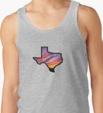 Texas Lone Star State Sunset Design Tank Top