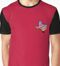 Texas Lone Star State Sunset Design Graphic T-Shirt