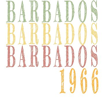 Vintage Barbados retro design by jhussar