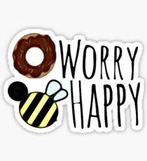 Donut Worry Bee Happy  Sticker