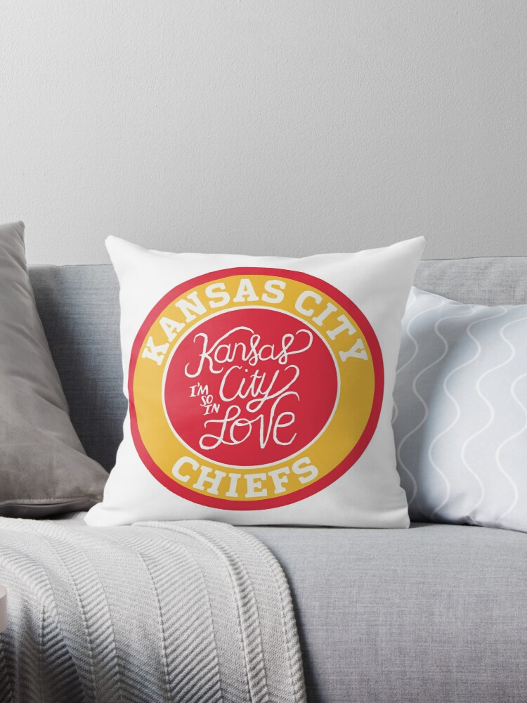 Remarkable Kc Chiefs Im So In Love Throw Pillow By Thedailymk Bralicious Painted Fabric Chair Ideas Braliciousco