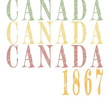 Vintage Canada retro design by jhussar