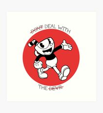 Cuphead- Don't deal with the devil Art Print