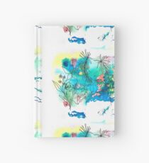aura forest - Watercolor illustration Hardcover Journal