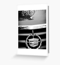 Black and White Cadillac Greeting Card