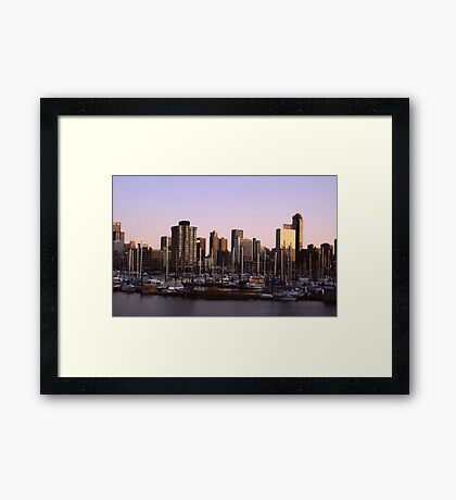 Vancouver Evening-1982 Framed Print