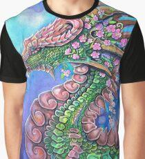 Blossom Tree Dragon Graphic T-Shirt
