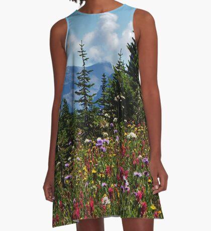 Mountain Wildflowers A-Line Dress
