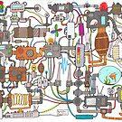 A Runcible Mass of Messy Machines  by TakoraTakora