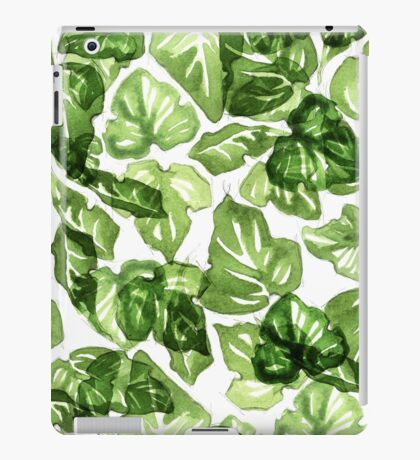 Green leafs pattern iPad Case/Skin