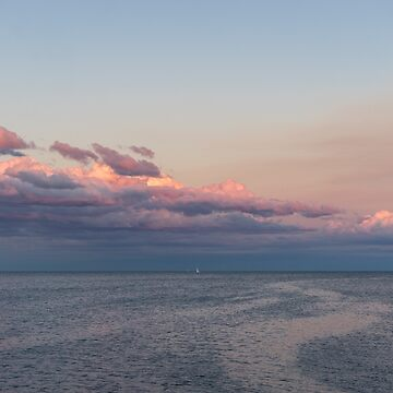 Breezy Pink and Blue Waterscape by GeorgiaM