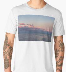Breezy Pink and Blue Waterscape Men's Premium T-Shirt