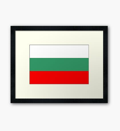 Bulgaria, national id Framed Print