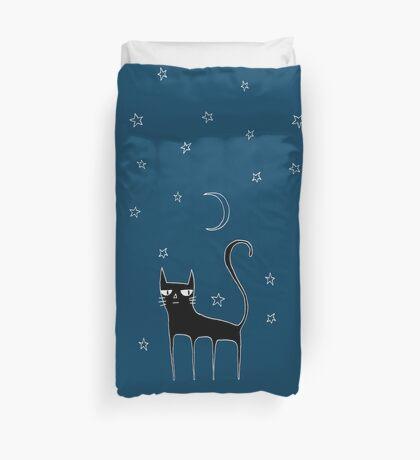 A Black Cat Duvet Cover