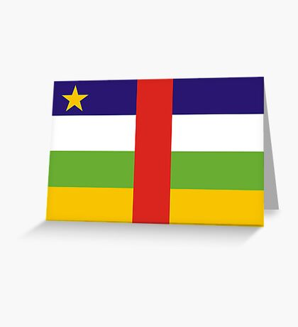 Central-African-Republic, national id Greeting Card