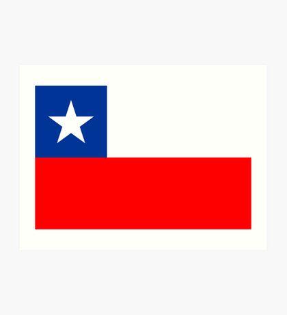 Chile, national id Art Print