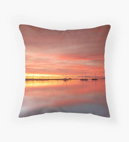 Eastern Beach Sunset Throw Pillow