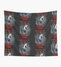 Graphic Design: Great White Shark Design, Welcome To The Dark Side Wall Tapestry