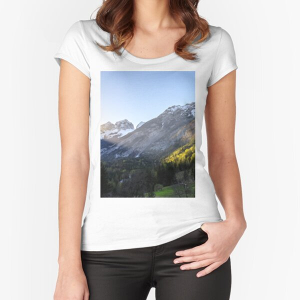 Sunset at Trenta valley, Slovenia  Fitted Scoop T-Shirt