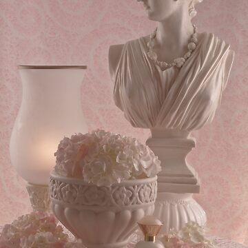 Pink Hydrangeas Still Life  by SandraFoster