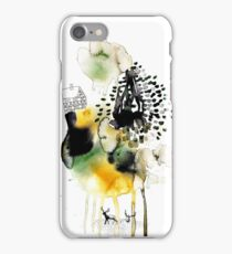 two deer in the subconscious wood iPhone Case/Skin