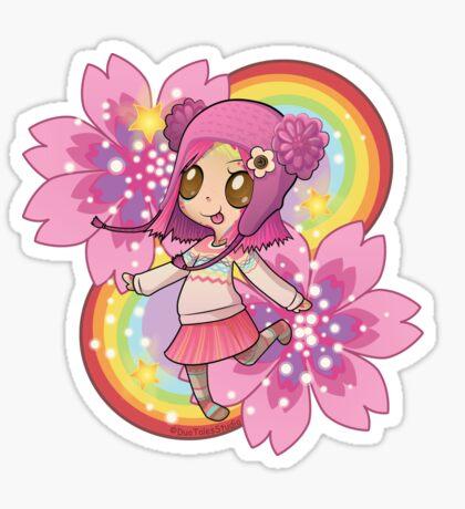 Imaginary Cherry (transparent) Glossy Sticker