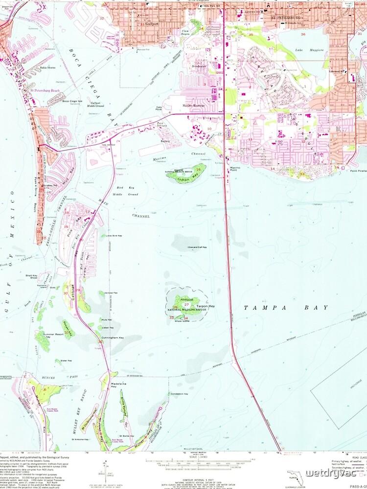 USGS TOPO Map Florida FL Pass-A-Grille Beach 348029 1956 24000 von wetdryvac
