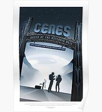 Ceres - Exoplanet-Reisebüro, JPL-Reise-Plakat, Visionen der Zukunft, NASA, Planeten Poster