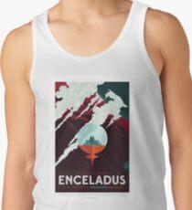 Enceladus - Exoplanet-Reisebüro, JPL-Reise-Plakat, Visionen der Zukunft, NASA, Planeten Tank Top