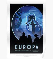 Europa - Exoplanet Reisebüro, JPL Reiseplakat, Visionen der Zukunft, NASA, Planeten Poster