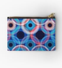 Circles | Blue and soft pink  Studio Pouch