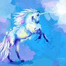 Unicorn Dream - fantasy animal painting by floartstudio