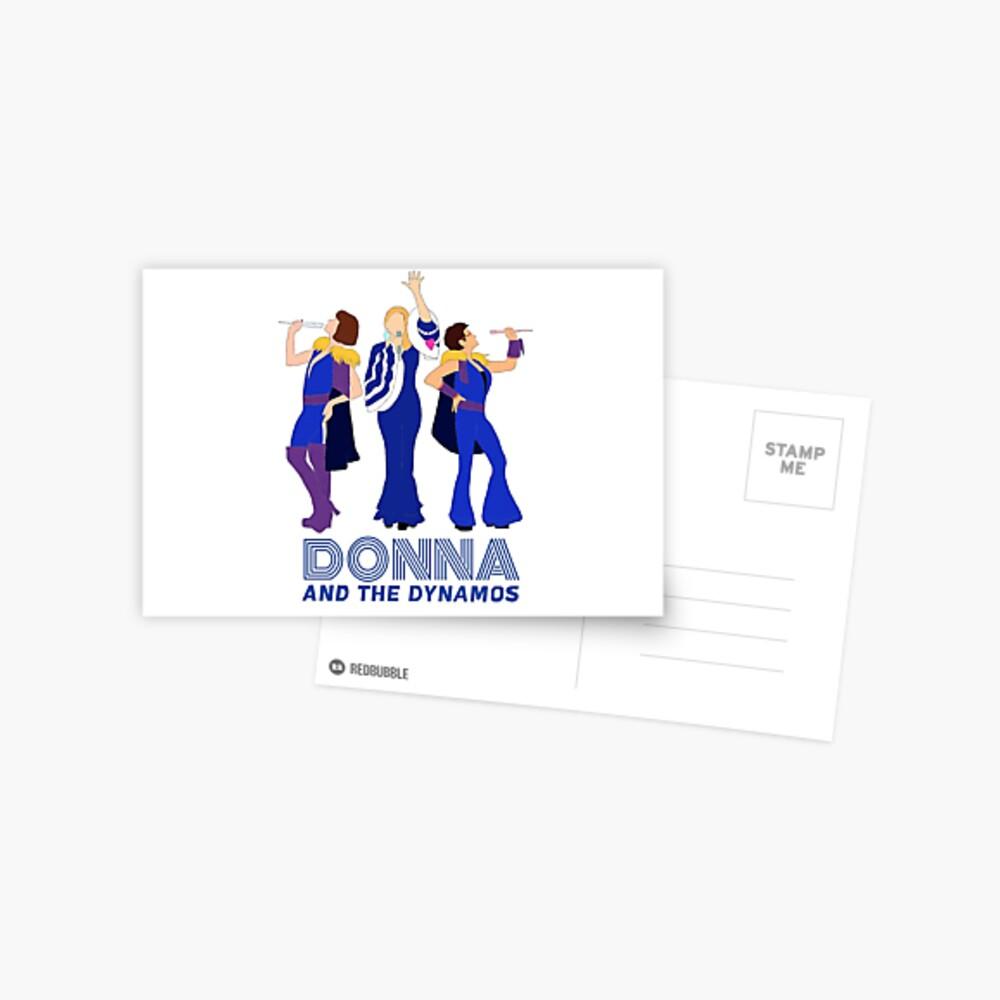 Donna and The Dynamos Mamma Mia Postcard