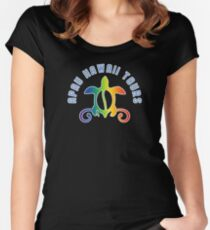 Apau Hawaii Tours - Collegiate Style Logo Women's Fitted Scoop T-Shirt