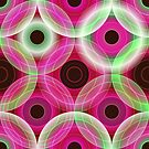 Circles | pink and green  by camcreativedk