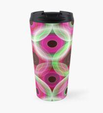 Circles | pink and green  Travel Mug