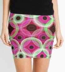 Circles | pink and green  Mini Skirt